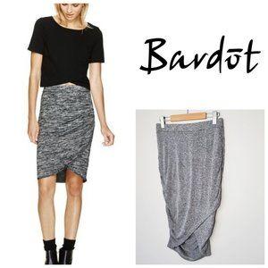 BARDOT Grey Ruched Pull On Skirt
